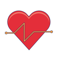Cardiac frequency and healthy heart vector