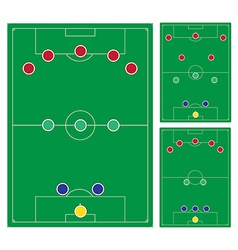 Classic soccer formation set vector