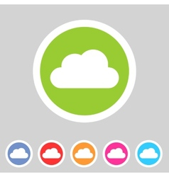 Cloud flat shape icon set collection vector image