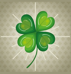 Clovers leafs saint patrick day vector