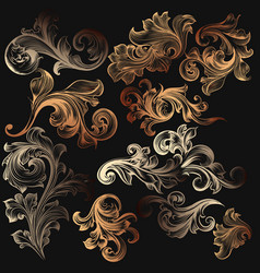 collection of decorative elements for design vector image