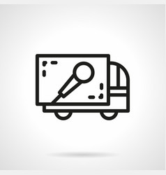 concert equipment delivery simple line icon vector image vector image