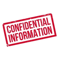 Confidential Information rubber stamp vector