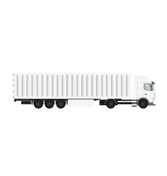 container trailer truck with cold storage vector image