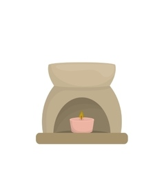 Decorative candle spa vector