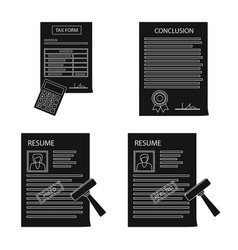 design of form and document sign vector image