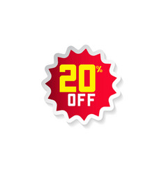 Discount 20 off template design vector