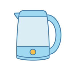 Electric kettle color icon vector