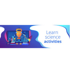Engineering for kids concept banner header vector