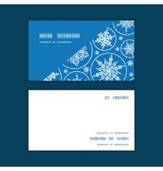 Falling snowflakes horizontal corner frame pattern vector