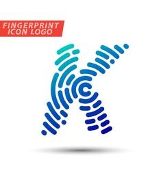 Fingerprint logo font 10 vector