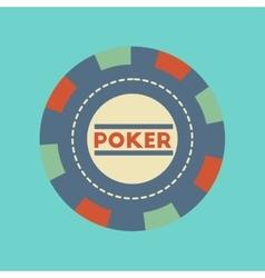 Flat icon stylish background single poker chips vector