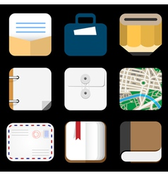 Flat Icons of web and mobile applications objects vector