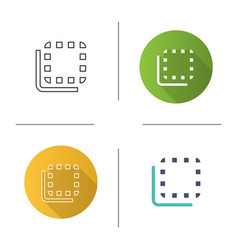 Flip to back button icon vector
