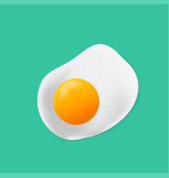 fried egg fried egg flat icon fried egg closeup vector image