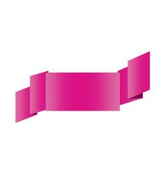 fushia shiny satin ribbon icon decorative vector image