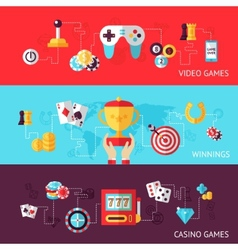 Game design banner set vector image
