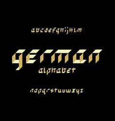 german font alphabet vector image