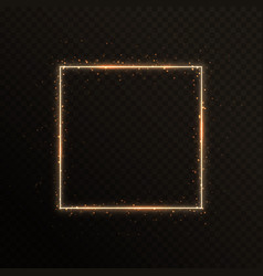 Gold frame with sparkles vector