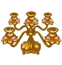 Gold Royal vintage lamp on white background vector