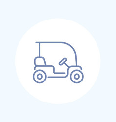 golf cart car isolated line icon vector image