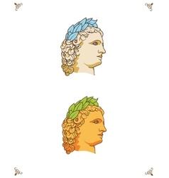 Greek man head logo vector