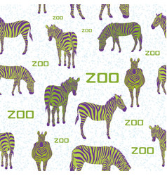 green zebra white background pattern vector image