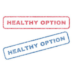 healthy option textile stamps vector image
