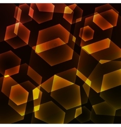 Hexagon Digital Technology Yellow Background vector image