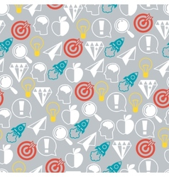 Idea concept seamless pattern in flat design style vector
