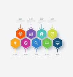 Infographics nine options vector