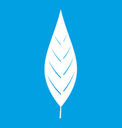 Leaf of willow icon white vector