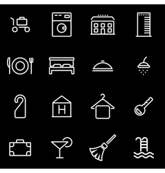 line hotel icon set vector image
