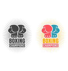 logo for boxing with glove vector image