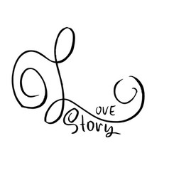 love story handdrawn calligraphy for valentine vector image