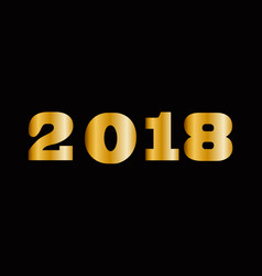massive gold shining 2018 numbers isolated on vector image