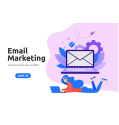 modern flat design for email marketing vector image
