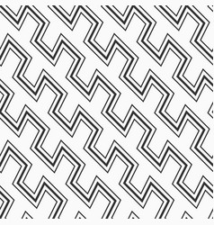 monochrome seamless pattern with zig zag lines vector image