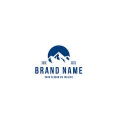 Mountain logo design concept vector