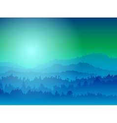 Mountain view at night vector image