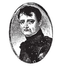 napoleon bonaparte vintage vector image