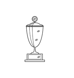 outline of trophy cup vector image