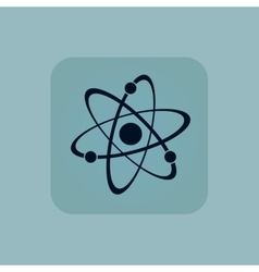 Pale blue atom icon vector