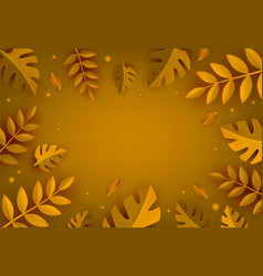 paper art styled natural frame with different cut vector image