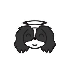 pekingese emoji innocent multicolored icon signs vector image
