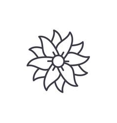 Petunia line icon concept petunia flat vector