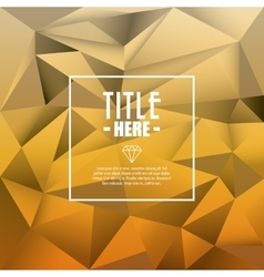 Polygonal icon Cover background graphic vector