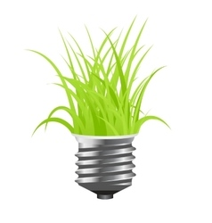 power saving lamp vector image