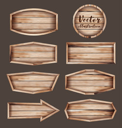Realistic of wooden signboard vector