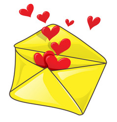 romantic envelope with many heart clip-art vector image